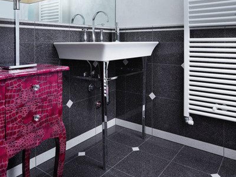 Salle de bain noir & blanc
